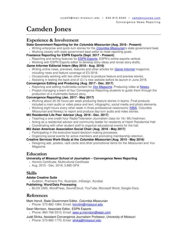 Camden Resume Journalism 2018 Update-1